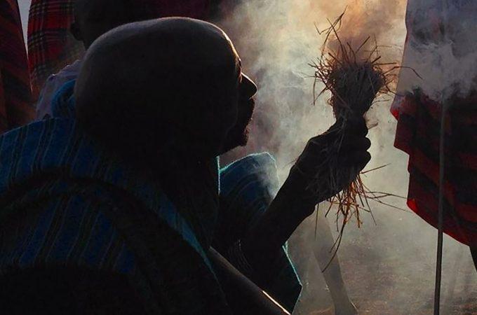 Dr. Elizabeth Wood's photo of a Maasai warrior.